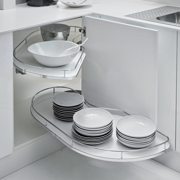 Le Mans Kitchen Storage: Hazel Fly Moon Corner Pull Out Shelving Unit For 900