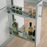 90º Storage baskets set, 100 mm width, for 150 mm cabinet width