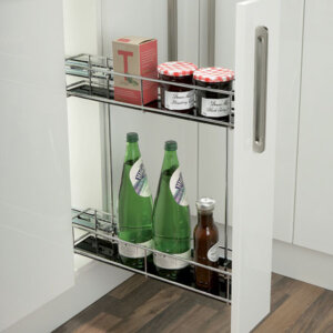 Pull-out storage unit, for 150 mm cabinet width