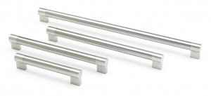 Keyhole Brushed Nickel Bar Handles