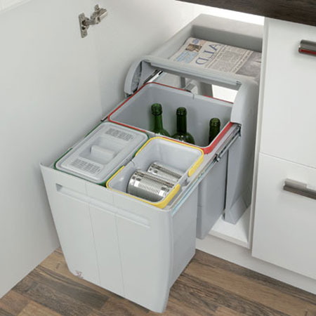 Kitchen Waste Bins Under Sink
