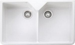 Rangemaster Belfast CDB800WH double bowl sink