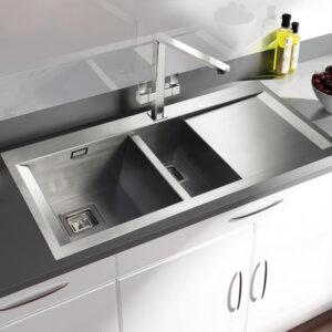 Rangemaster Senator SN9952 1 1/2 bowl sink and drainer
