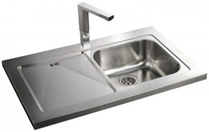 Rangemaster Mezzo MZ10001 single bowl sink with drainer