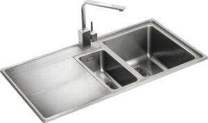Rangemaster Arlington AR9852 1 1/2 bowl sink and drainer
