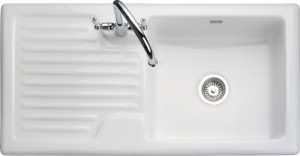 Rangemaster Rustique CRS10101 single bowl sink and drainer