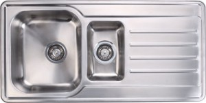 Stainless steel 1 1/2 bowl and drainer