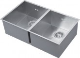• For min. 900 mm base unit • Overall size 740 x 430 mm • Bowl size 340 x 400 mm, depth 220 mm • Cut out size 710 x 400 mm (Radius corner sinks require R15 cut out to corners) • Ø 110 mm waste size • Basket strainer waste • Available with either sharp square or pencil radius corners • Polished stainless steel • Fixings and waste kit included - waste kit includes overflow pipe and waste pipe - plumbing kit not included • Taps are not included with the sink