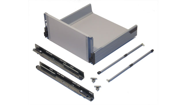 Blum pre built d height tandembox for Ready made kitchen drawers