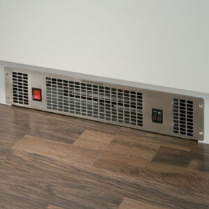 Stainless steel plinth heater