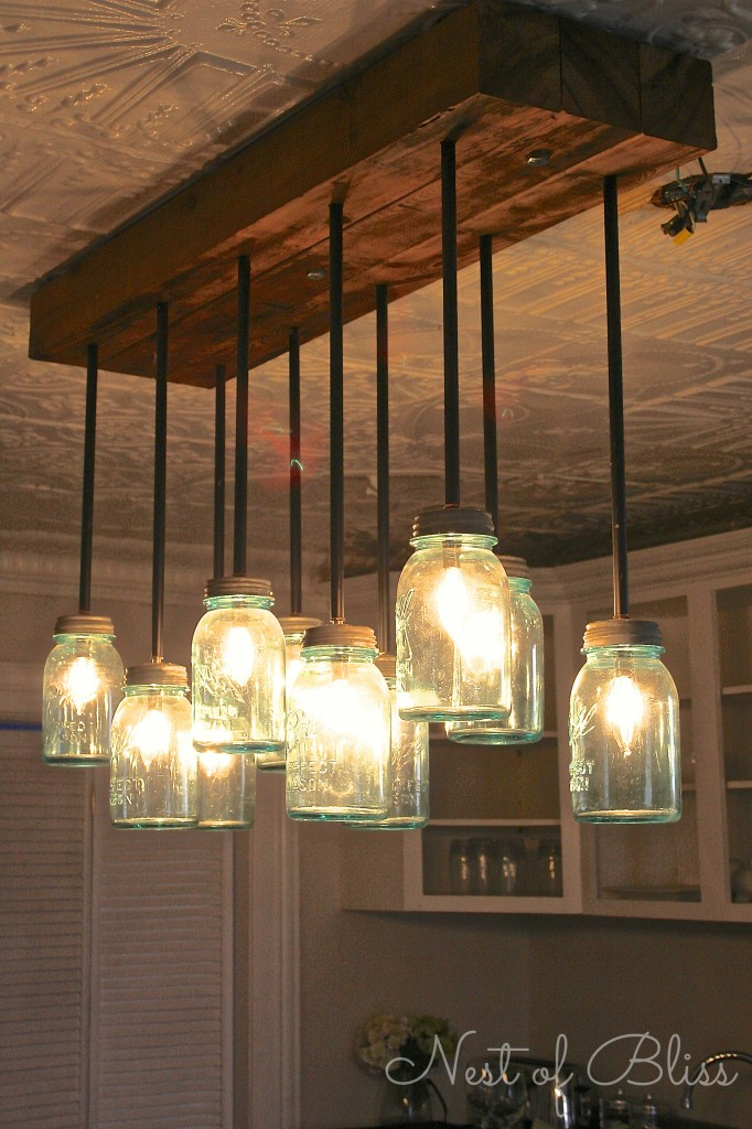 Jam jar kitchen lights