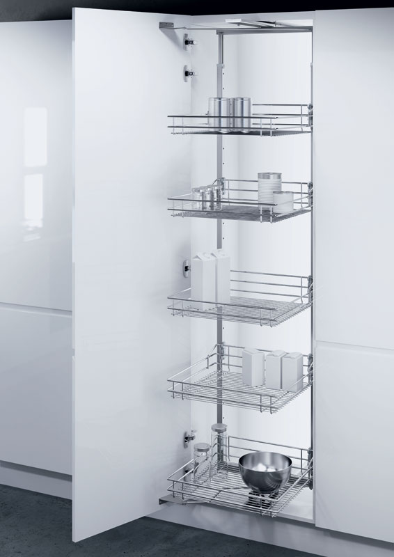 Hafele 300mm Pull Out Larder Unit With Wire Baskets