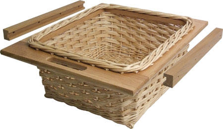 Wicker baskets and runners set for 500/600 mm cabinets