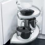 Slide corner shelving unit, for 900 mm cabinet width