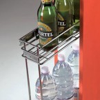 2 tier pull-out storage unit, side fixing, for 150 mm cabinet width