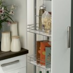 Larder unit, centre mounting, height adjustable (1700-2200 mm), with soft closing action, for 300 mm cabinet width