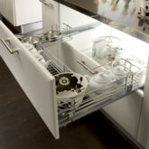 Undersink pull-out wire basket set, for 800-1000 mm cabinet width