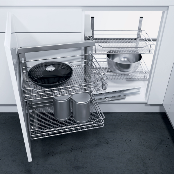 Swing out corner unit complete set, automatic pull-out action
