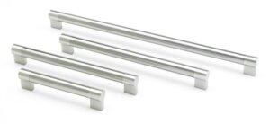 Keyhole Brushed Nickel Bar Handles