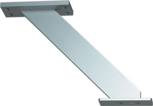 Breakfast bar support, inclined