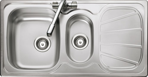 Rangemaster Baltimore BL9502 1 1/2 bowl sink and drainer