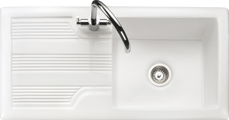Rangemaster Portland CPL10101WH single bowl sink and drainer