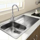 Rangemaster Glendale GL9501 single bowl sink and drainer