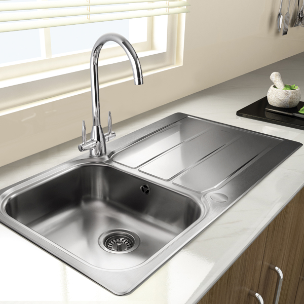 Rangemaster Glendale GL9501 single bowl sink and drainer