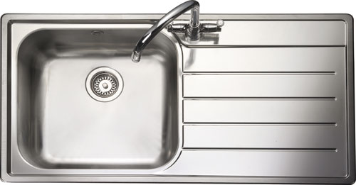 Rangemaster Oakland OL9851 single bowl sink and drainer