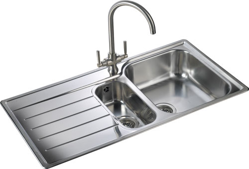 Rangemaster Oakland OL9852 1 1/2 bowl sink and drainer