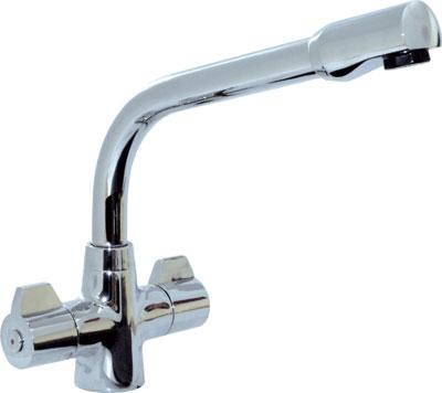 Monoblock mixer tap