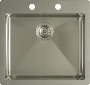 Flat rim single bowl sink