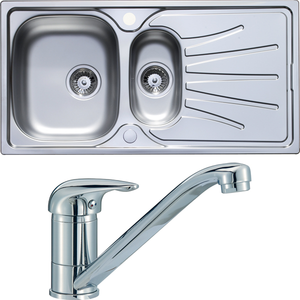1.5 bowl sink and tap set
