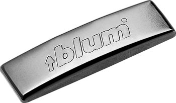 Blum curved 'Blum' cover cap in nickle