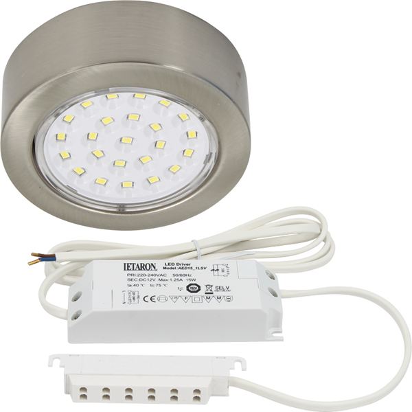 LED 12V recess mounted downlight, 2.0W