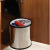 40cm Automatic Opening Waste Bin to Suit Minimum 400mm Wide Cabinet, Polished, 1 x 12 Litre Capacity