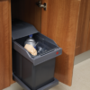 30cm Base Mounted Pull-Out 20 Litre Waste Bin