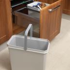 50cm wide mounted waste bin