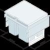 500mm side mounted waste bin dimensions