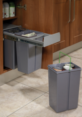 30cm Waster Bin suitable for 300mm base cabinet, soft closing runners