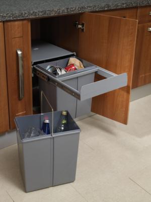 40 litre capacity waste bin for 40cm cabinet