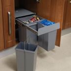 40 Litre, 40cm Waste Bin with Soft Closing Mechanisms