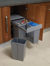 40 Litre, 40cm Waste Bin with Soft Closing Mechanisms