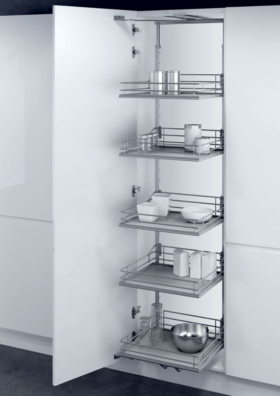 Hafele 400 Pull Out Larder Unit With Classic Chrome Baskets