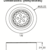 Genus LED Light Dimensions