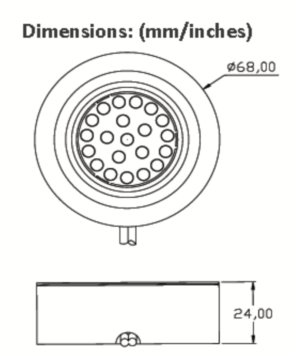 Genus LED Light Dimensions